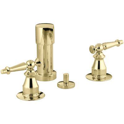 Kohler Antique Vertical Spray Bidet Faucet With Lever Handles Finish