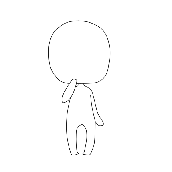 Chibi Body Outline Chibi Body Chibi Drawings Anime Drawings