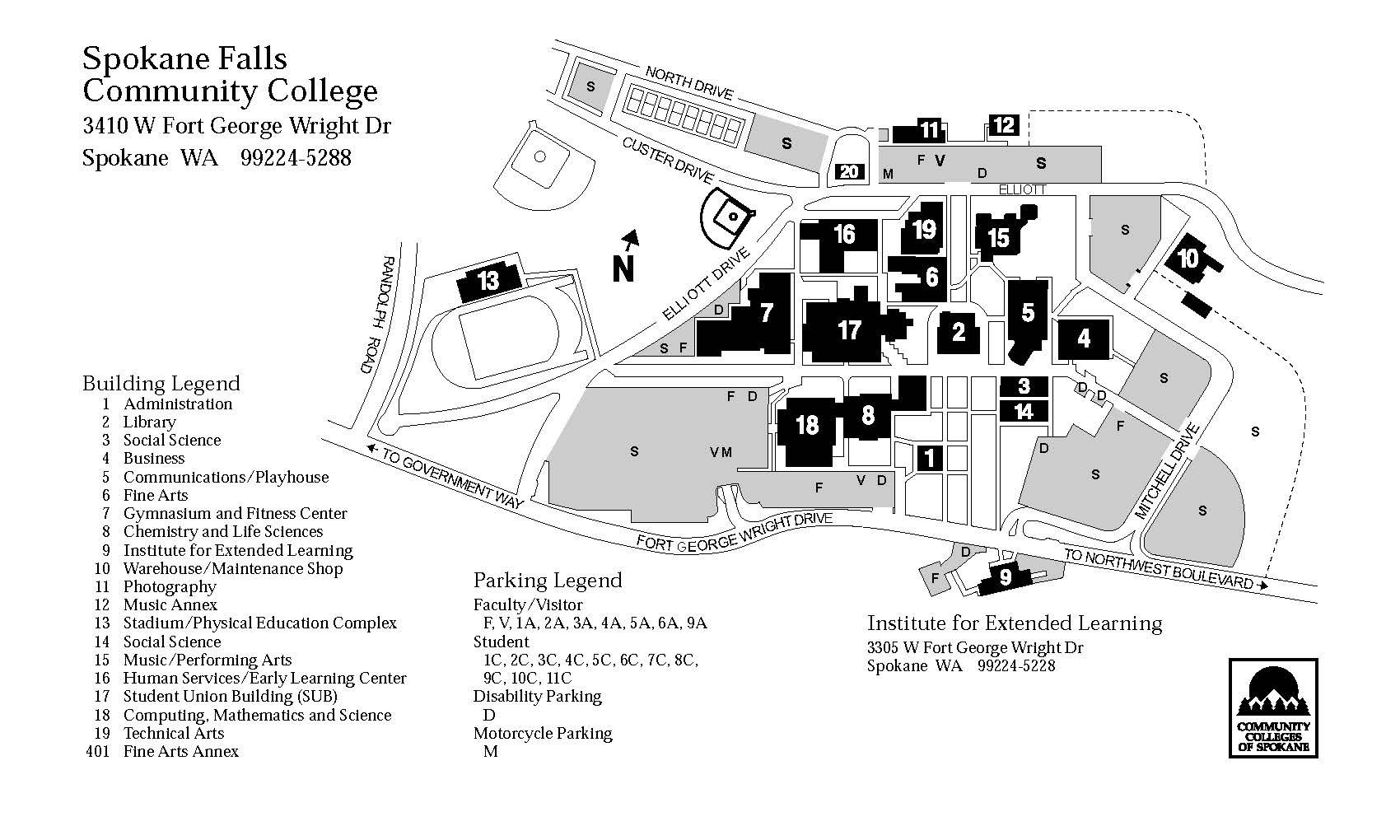 SFCC Map | Campus Life | Pinterest | Community College, Spokane