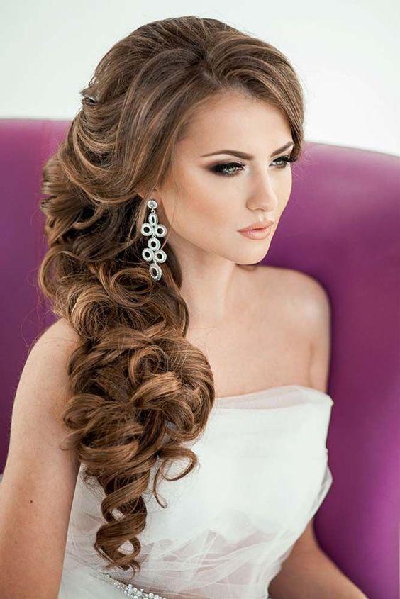 42 peinados de novia con pelo suelto largo, corto o mediano | pelo