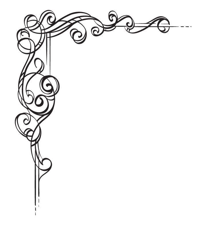 Corner Scroll Designs: Border Design, Calligraphy