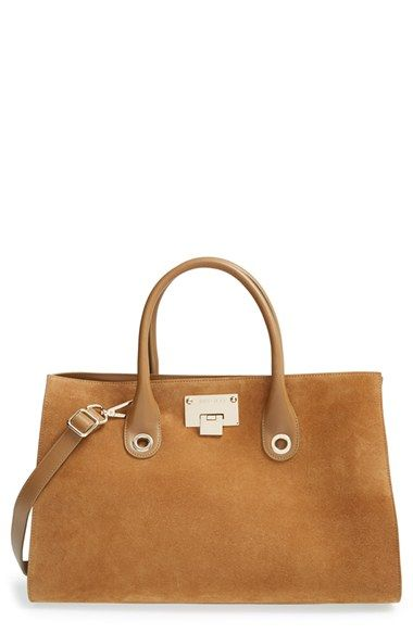 e81e9043b2a7 Jimmy Choo  Riley  Suede   Leather Tote available at  Nordstrom ...
