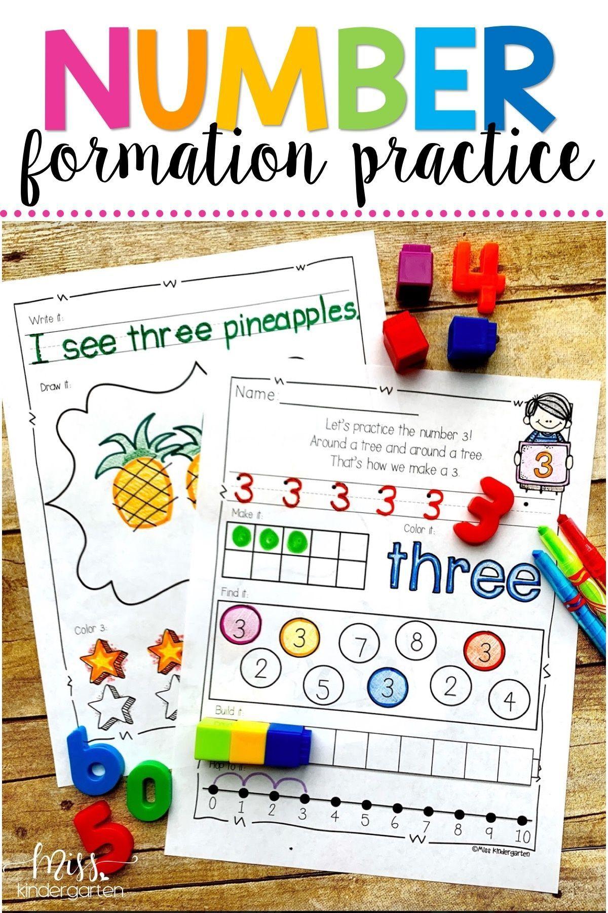 Number Practice Printables 0 20