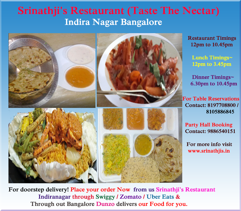 Srinathji S Restaurant Taste The Nectar Indira Nagar Veg Restaurant Vegan Restaurants Near Me Vegan Restaurants