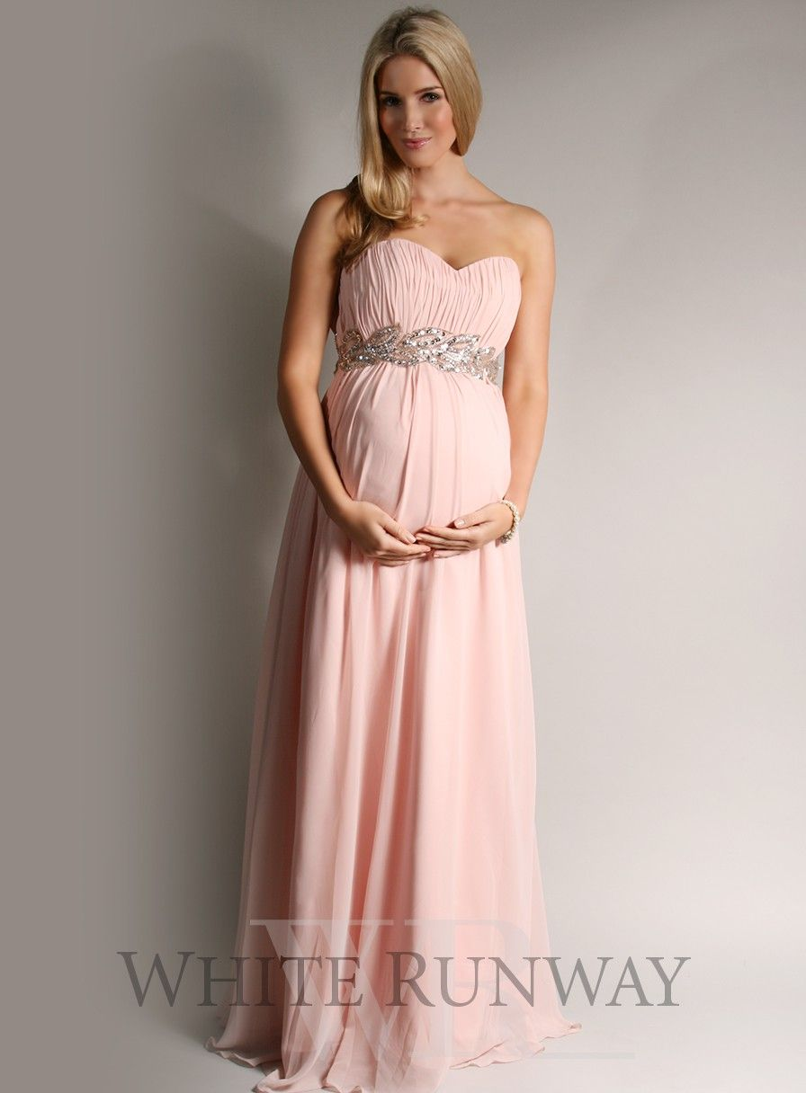 Grecian Strapless Bridesmaid Dress. Maternity Bridesmaid Dress ...