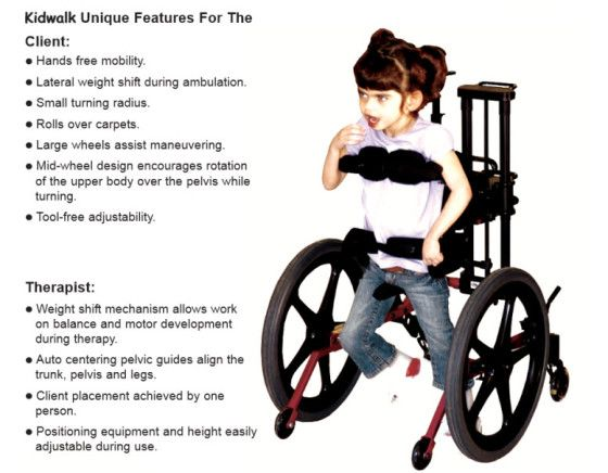 Kidwalk Mobility Device Graphic Assistive Technology