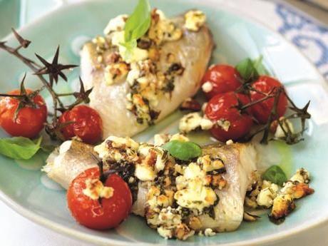 Tisdagsgös med fetapesto och karamelliserade tomater Receptbild - Allt om Mat