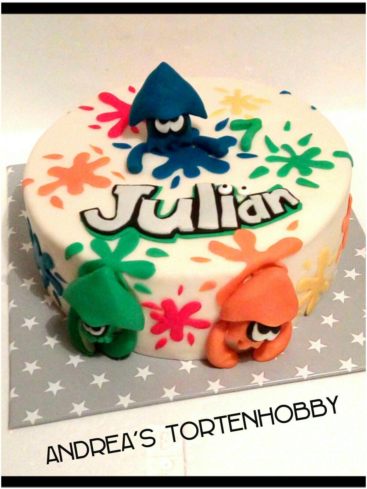 Splatoon Cake In 2019 Cake Different Cakes Desserts
