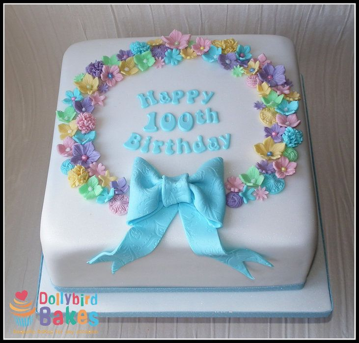 100th birthday cake by dollybirdbakes for 100th birthday decoration ideas