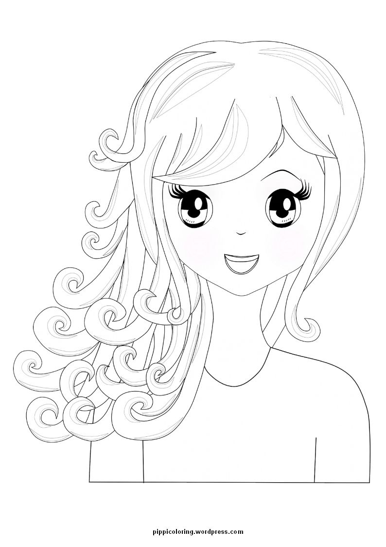 coloring page for spa birthday party let the girls create on a blank canvas - Coloring Page For Girls