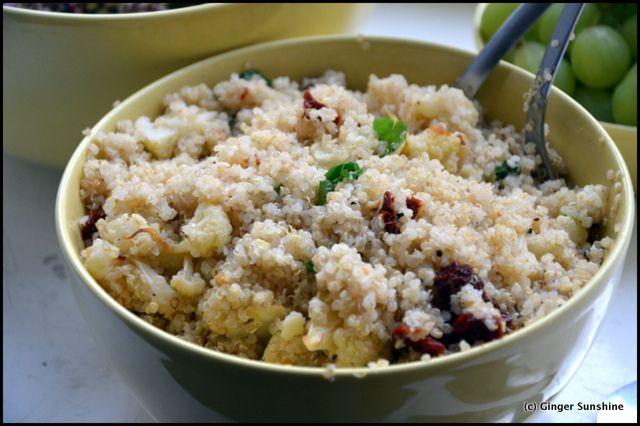 Kukkakaali ja kvinoa