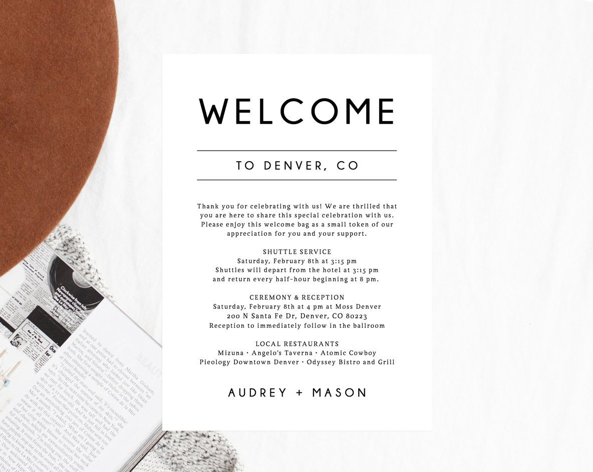 39++ Welcome letter template wedding inspirations