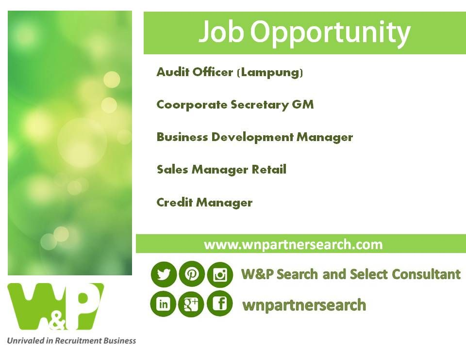Details And More Opportunity WwwWnpartnersearchCom  Job Adds