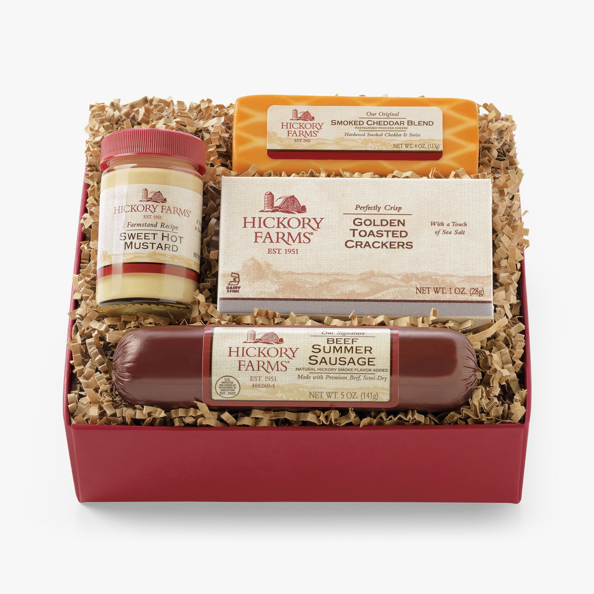 Beef Hickory Sampler Gift Box Gift | Purchase Our Gourmet Sausage ...