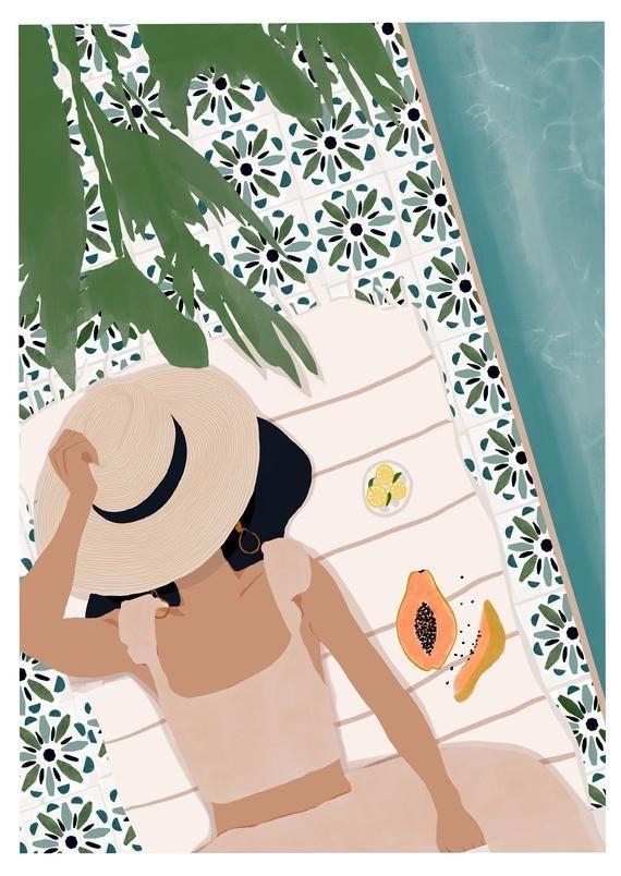 Photo of Vacation print,summer prints,summer illustration,woman illustration,fashion illustration print,woman art,fashion art,fashion print,wall art – The World