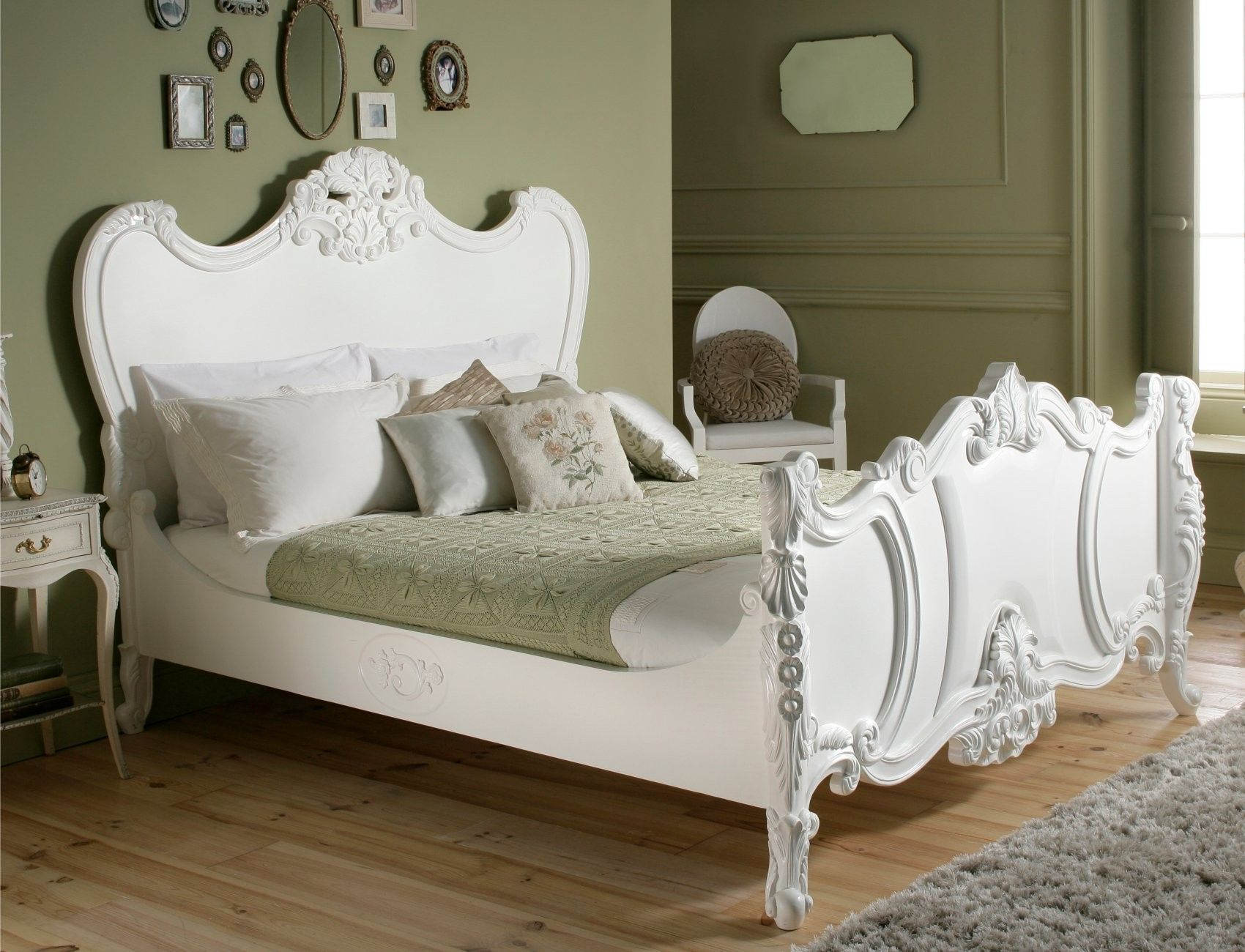 Loire French Style White Wooden Bed by Sleep Sanctuary