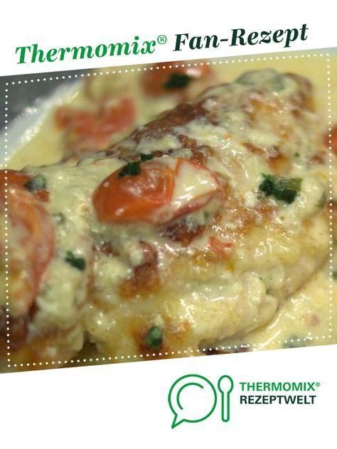 Hähnchen in Mozzarella - Basilikum - Sahnesauce #easydinnerrecipes