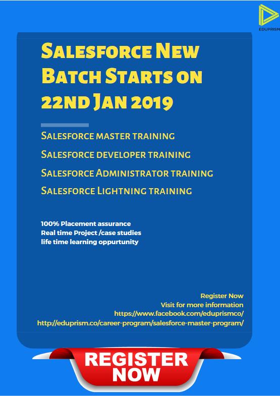 salesforce certifications certificate bangalore modules