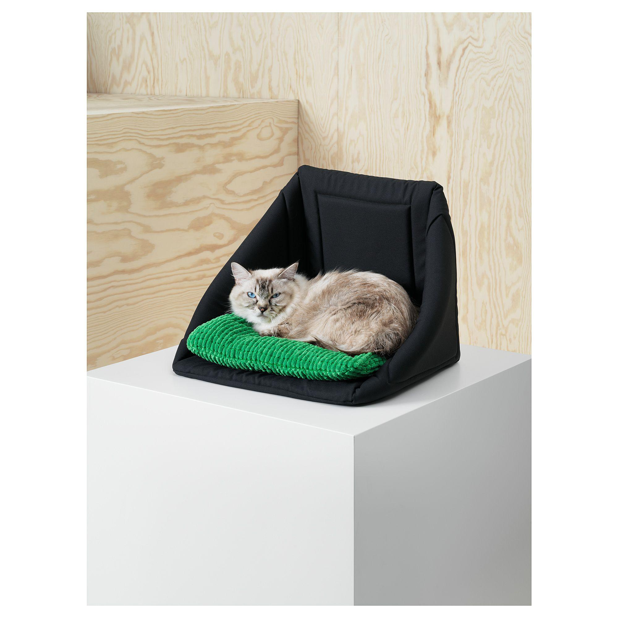 Ikea Lurvig Cat Bed With Pad Black Green Pet Bed Pet