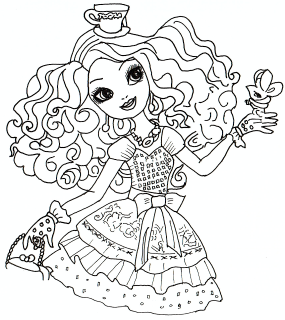 Free Printable Ever After High Coloring Pages: Madeline Hatter ...