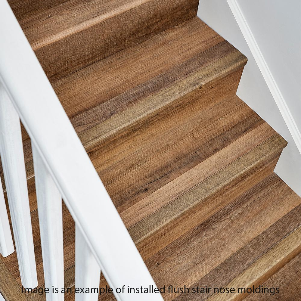 Home Decorators Collection Stony Oak Grey 7 Mm Thick X 2 In Wide X 94 In Length Coordinating Vinyl Stair Nose Molding Ve 60198 The Home Depot In 2020 Stair Nosing Vinyl Stair Nosing Laminate Stairs