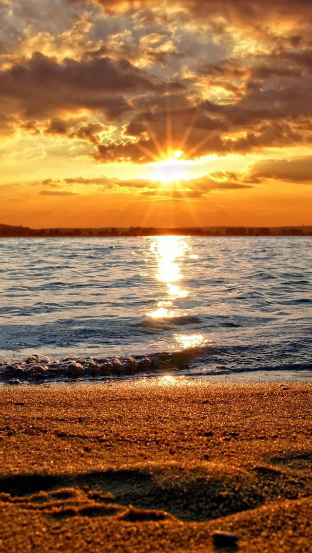 Beach sunset (Natural scenery) Beautiful sunset