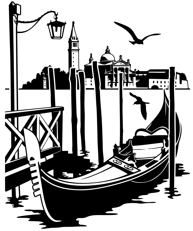 италия черно белый рисунок хроническом
