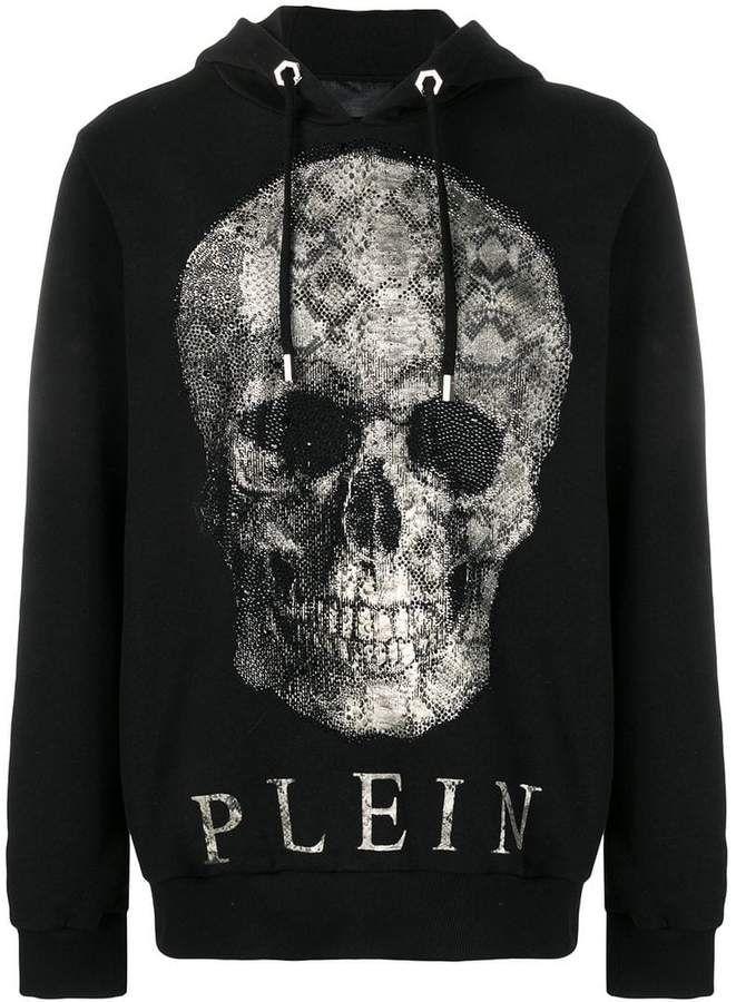 ac4f132ad4d Philipp Plein skull print hoodie   Products in 2019   Hoodies, Skull ...