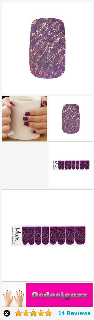 Purple Pink Zebra Bling Minx® Nail Wraps #nails https://www.zazzle ...