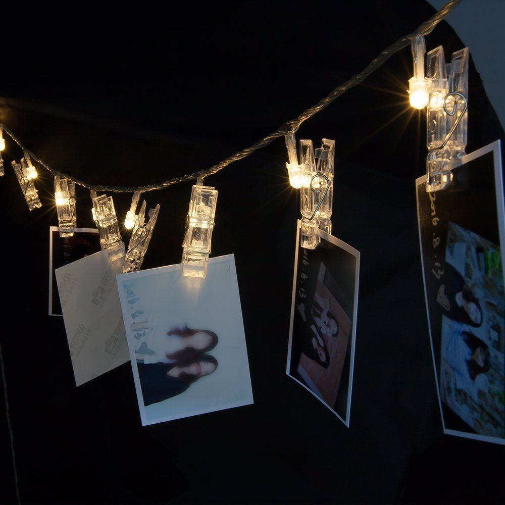 Fairy Starry String Lights 80 Led Photo Hanging Clips Wedding Party  Anniversary