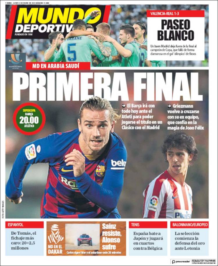 20200109 Periódico El Mundo Deportivo (España