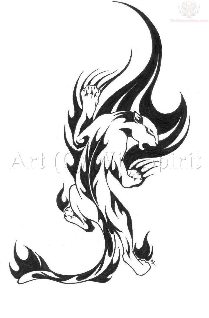 f38feff519979 Small Tribal Tattoo Small tribal jaguar tattoo | Small tribal ...