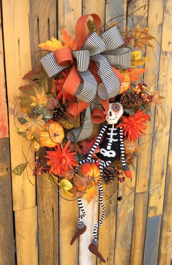 Esqueleto guirnalda guirnalda de Halloween Halloween