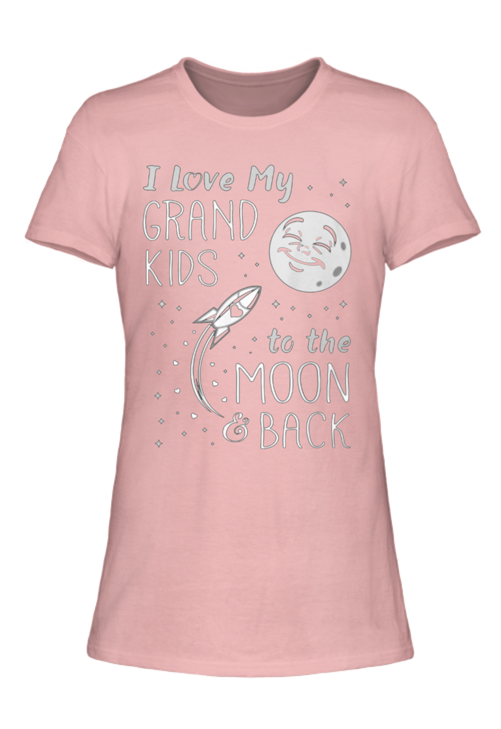 I Love My Grand Kids To The Moon & Back Ladies Tee [Runs Small]