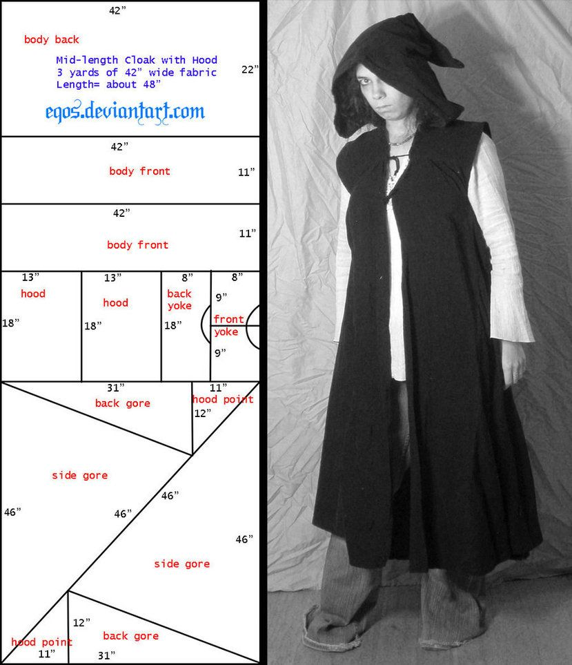Pattern: Sleeveless Cloak/Duster by ~eqos on deviantART. Perfect for ...