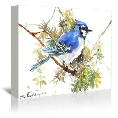 Americanflat Blue Jay 7 by Suren Nersisyan Painting Print on Gallery Wrapped Canvas Size: