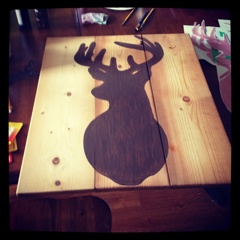 Hand painted deer decal
