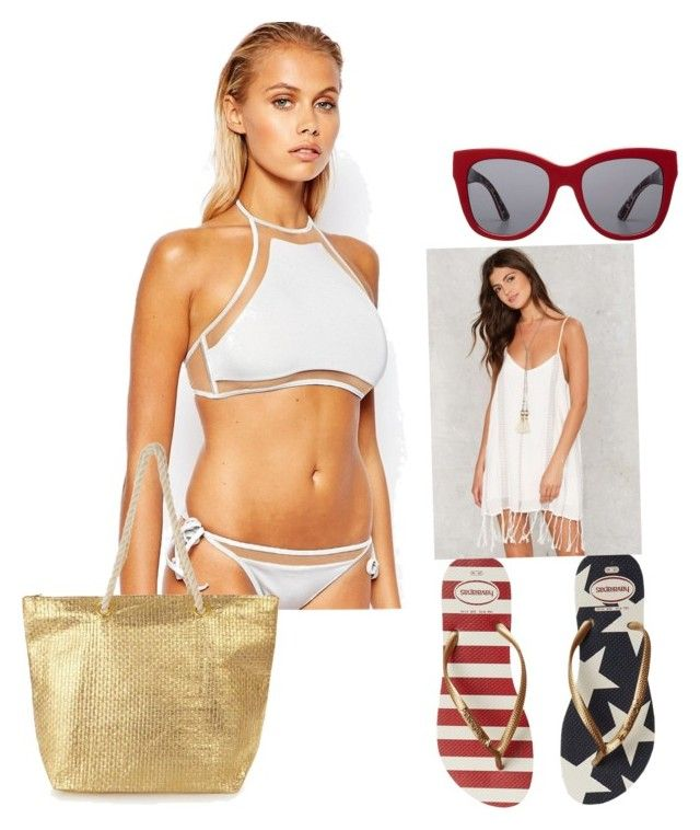 """""""Beach time"""" by nikki-pilgrim on Polyvore featuring ASOS, Havaianas and Dolce&Gabbana"""