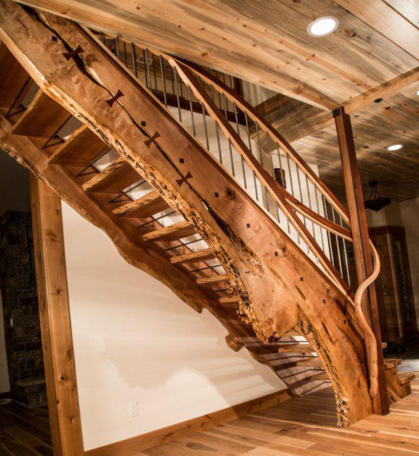 Beautiful Use Of Wood For Stairs And Handrails [595 × 648] Via Reddit.