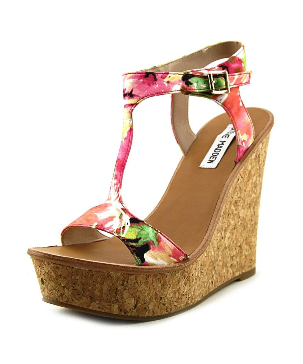 ed22b3b4ae1 STEVE MADDEN Steve Madden I Luvit Open Toe Canvas Wedge Heel .  stevemadden   shoes  pumps   high heels