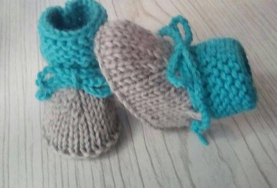 Chaussons Laine Bébé garçon fille chaussons bébé 0/1 mois