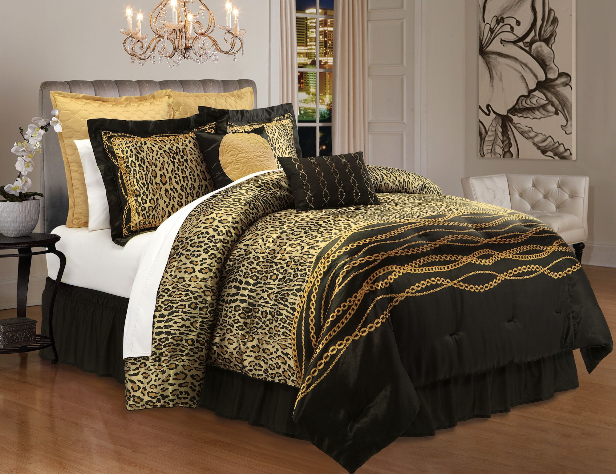 Kardashian Kollection Safari Luxe Bedding Bedroom Comforter Sets Bed Comforter Sets King
