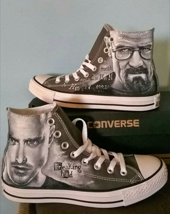 Breaking Bad Custom hand painted Converse shoes,hand painted