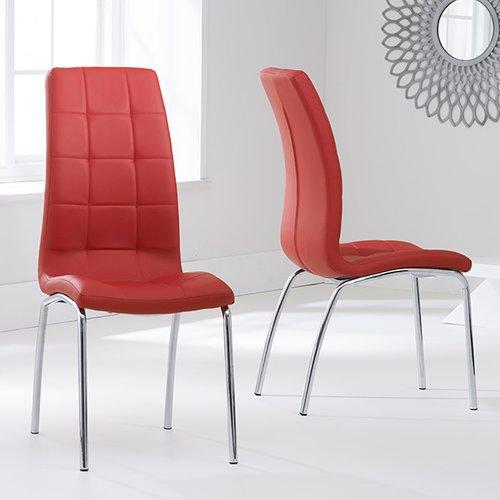 hope upholstered dining chair orren ellis colour upholstery red