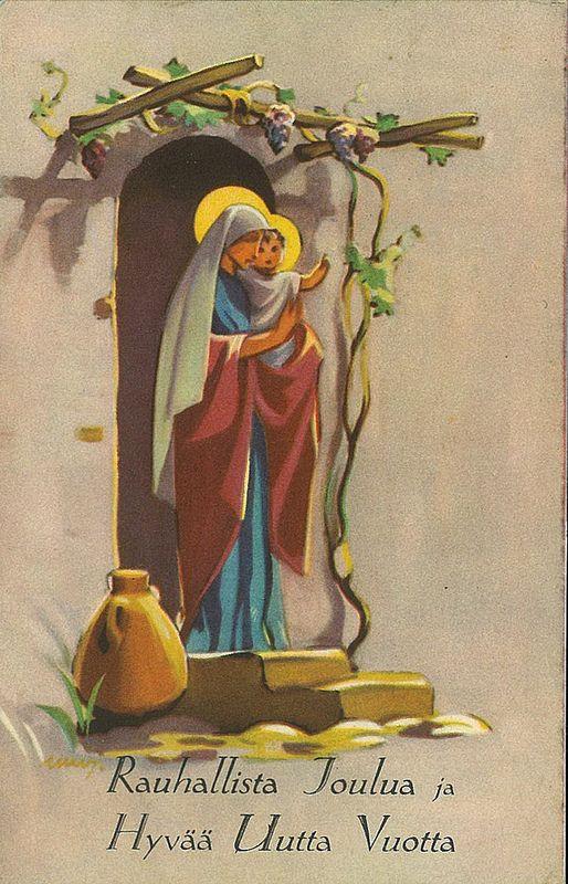 Martta Wendelin - Christmas card Neitsyt ja Jeesus-lapsi 2