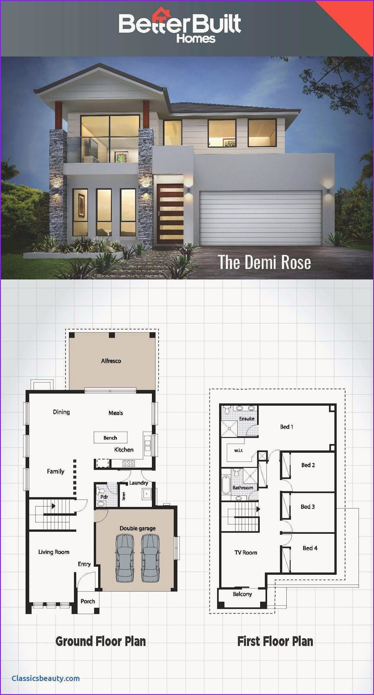 Ultra Modern Beach House Plans Beautiful Minimalist Ultra In 2020 House Plans Farmhouse Dream House Plans Double Storey House