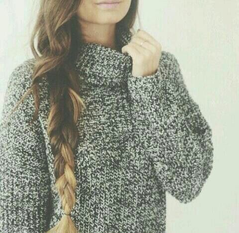 Ombre hair, big fluffy sweater | Winter Fashion | Pinterest ...