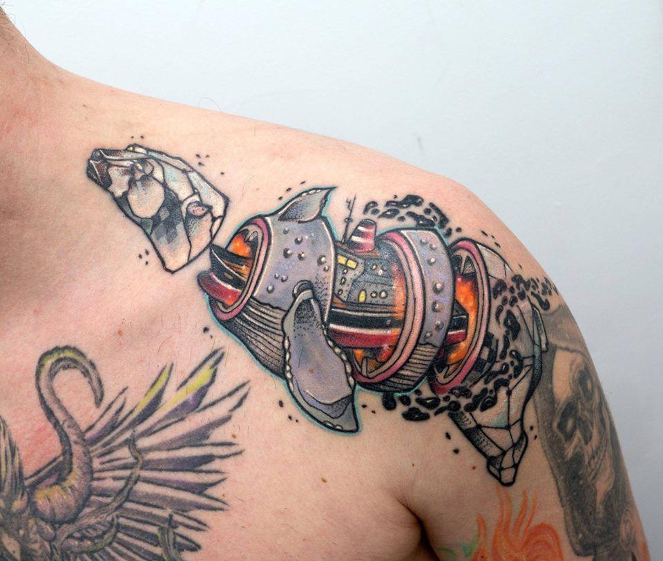 The Destructured Tattoos Of Jubsss Tattoos, Skull tattoo