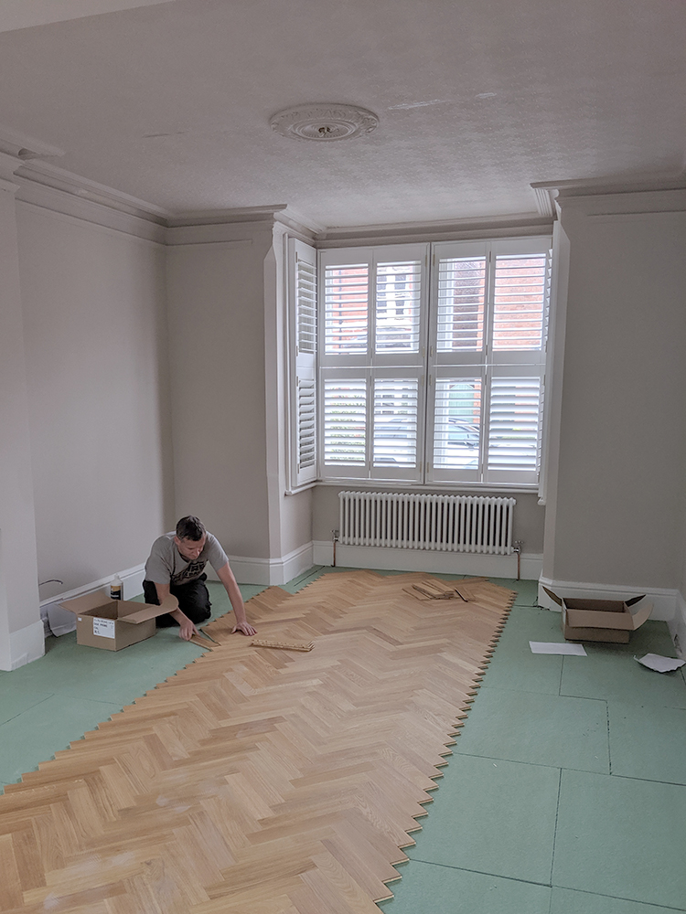 DIY Laying Engineered Oak Parquet Flooring Oak parquet