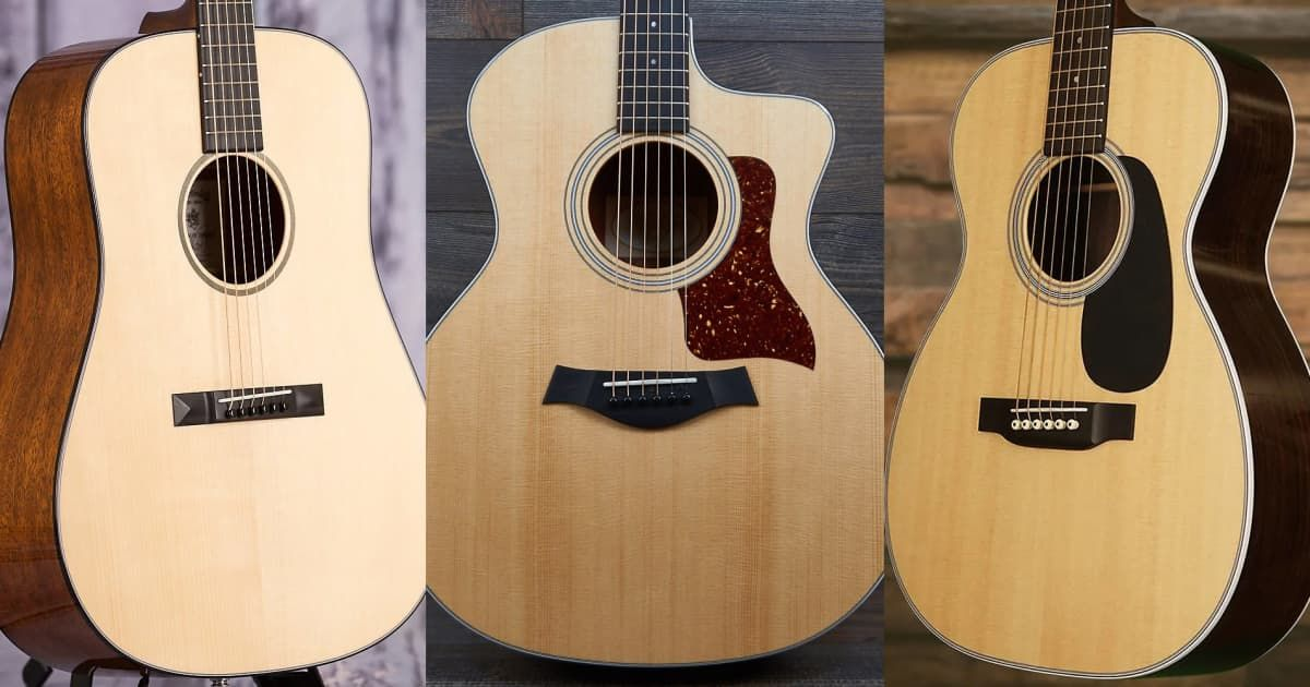 Video 7 Acoustic Guitar Body Shapes Their Differences And Sounds Guitar Acoustic Guitar Guitar Body